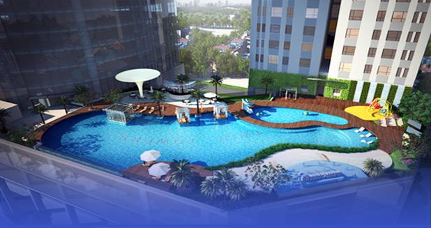 Bể bơi ngoài trời được thiết kế sang trọng