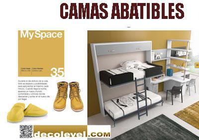 Camas abatibles barcelona decolevel sofas muebles for Camas de dos plazas baratas