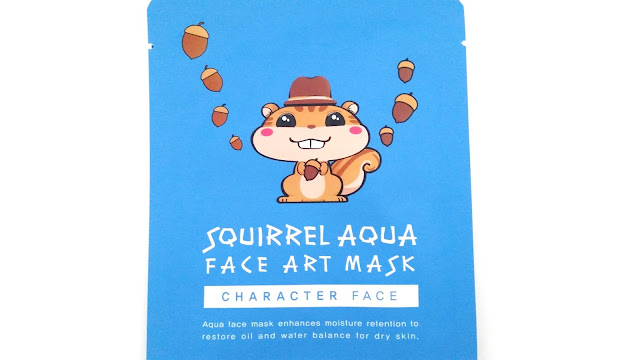 SNP Character Face Squirrel Aqua Face Art Mask Review