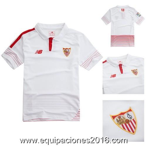 Camisetas de futbol baratas 2016  Nuevo camiseta Sevilla 2016 para ... 150409ecfe0e4