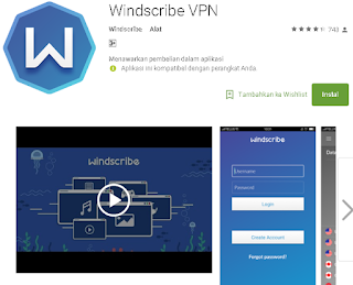 Windscribe VPN ke android