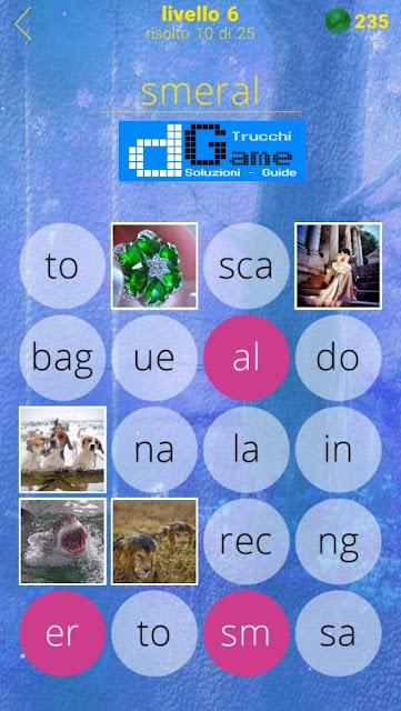 650 Foto soluzione pacchetto 6 livelli (1-25)
