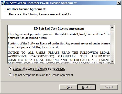 تحميل وتثبيت برنامج ZDsoft Screen Recorder لتصوير شاشة الكمبيوتر