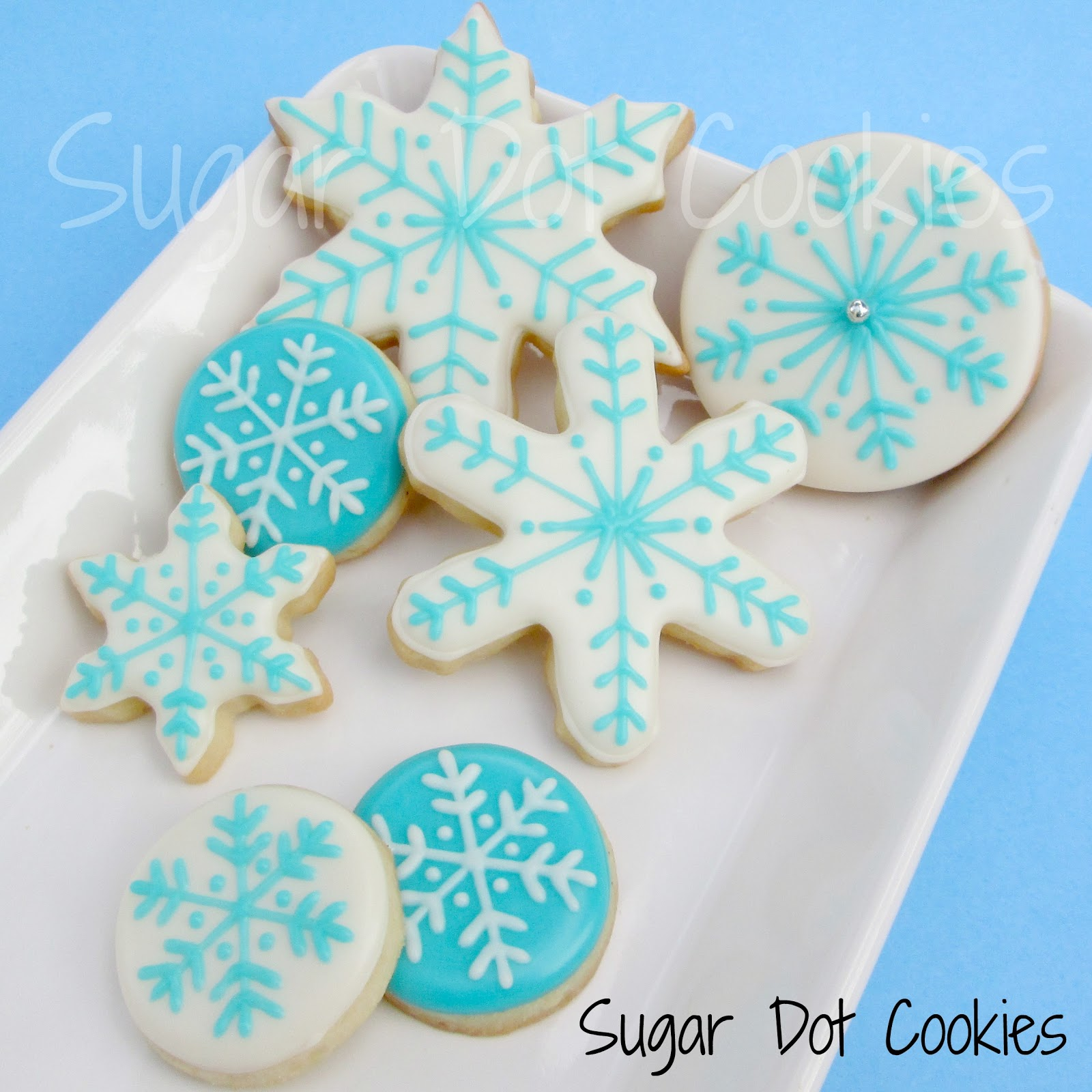 super simple winter sugar cookies - Round Christmas Cookie Decorating Ideas