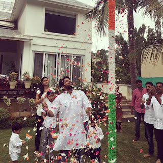Allu Arjun hoists tri-colour at home | andhra news daily