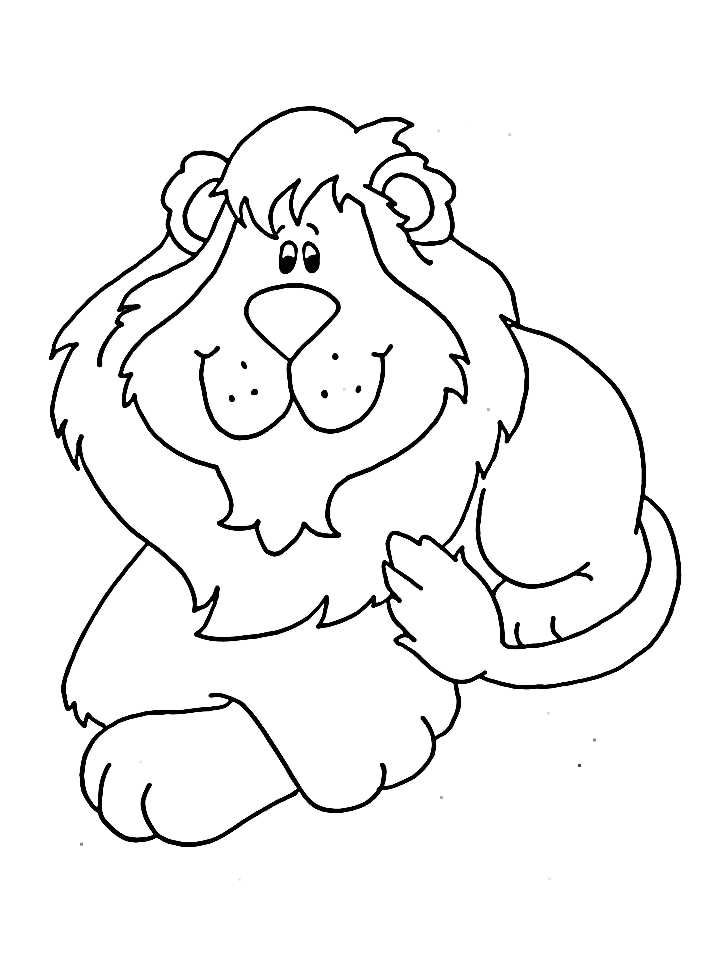 valentine coloring pages lion - photo #49