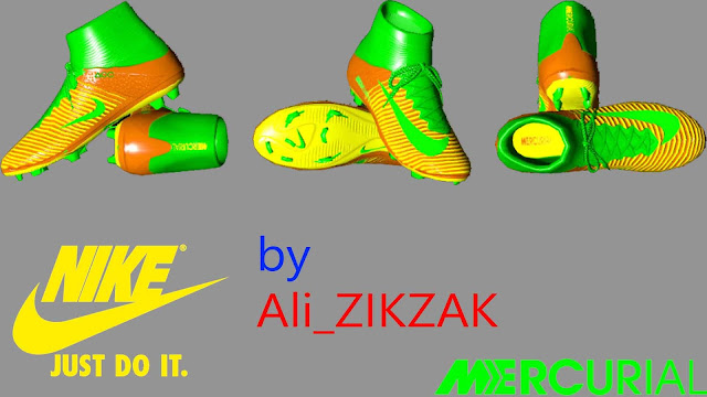 Orange Yellow Green Fantasy Mercurial Boots by Ali_ZIKZAK