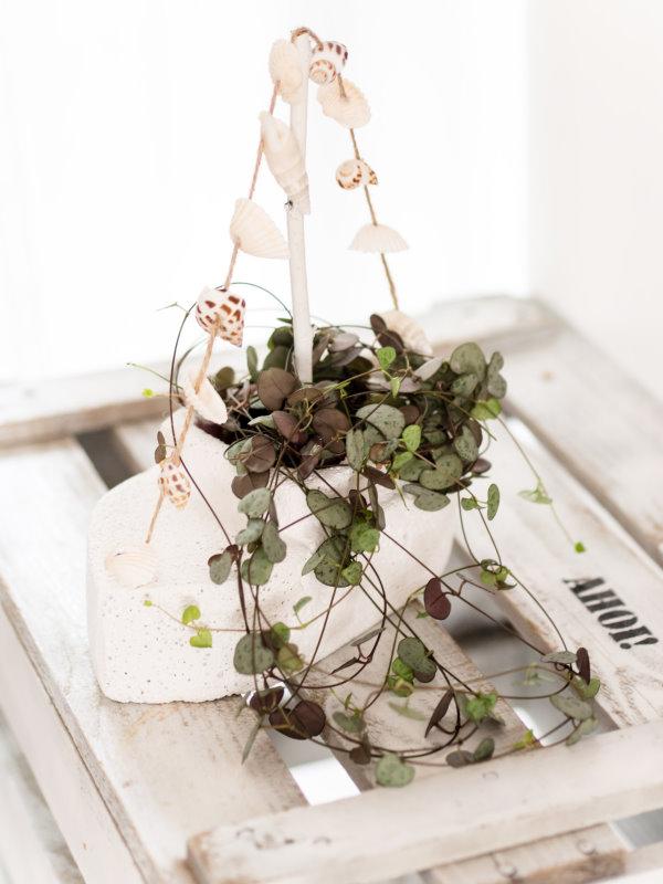 Schiff ahoi: Blumentopf aus Porenbeton