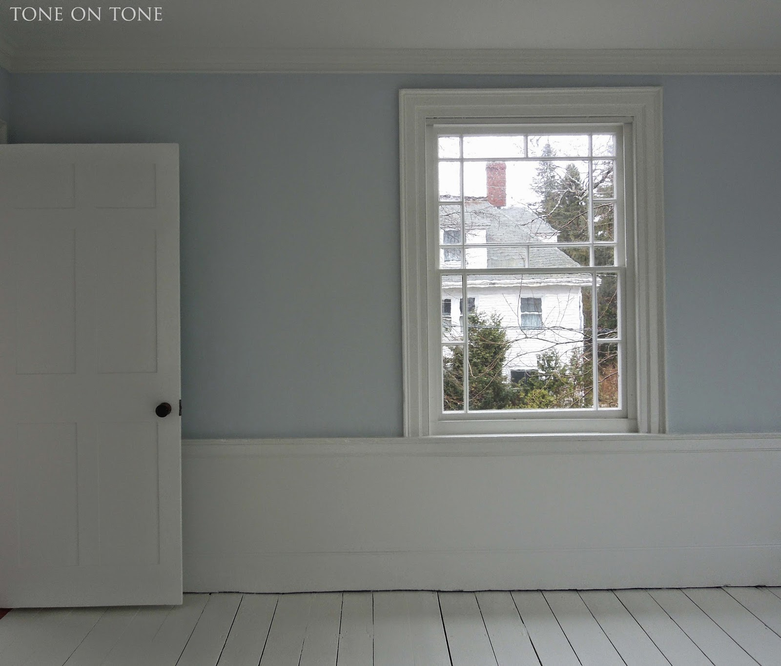 For Another Bedroom The Walls Are Painted Benjamin Moore Gray Sky A True Blue This Room Gets Endless Sunshine So Is Tempered By Bright