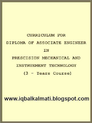3 Years DAE Course Layout in Mechanical and Instrument tech