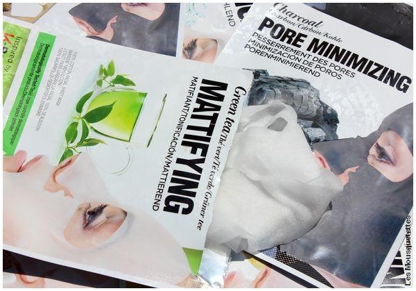 Avis blog - Masque matifiant en tissu, KISS NY Pro