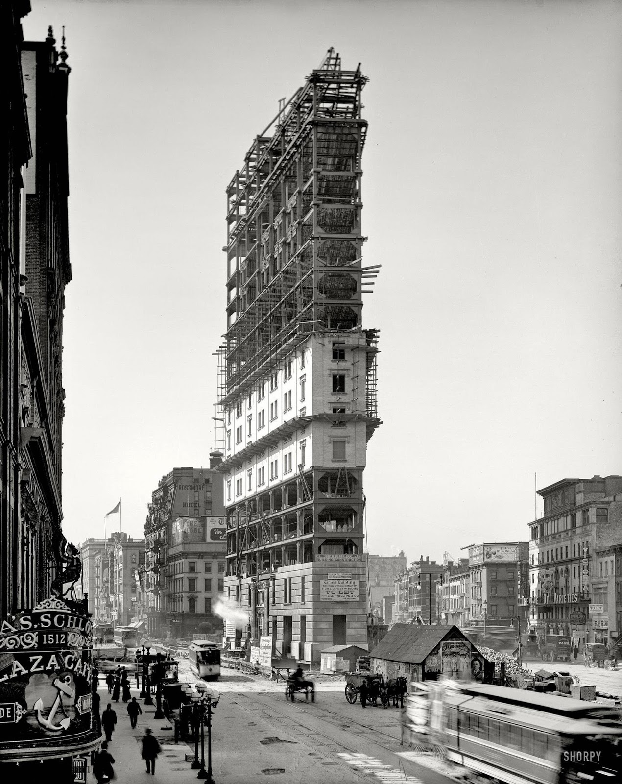 Patrick Willis Hd Wallpaper One Times Square Under Construction In 1903 Vintage Everyday
