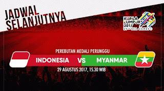 Indonesia vs Myanmar Berebut Peringkat Ketiga Sepakbola SEA Games 2017 #TimnasDay
