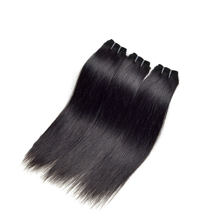 3 Bundles Straight Virgin Brazilian Hair Natural Black 180g