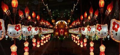 Lampion Karakter Taman Pelangi Jogja