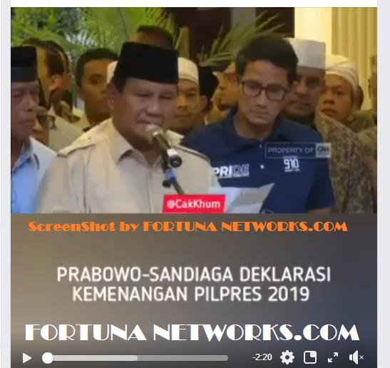 Prabowo Subianto-Sandiaga Salahuddin Uno 'Deklarasi Kemenangan #Pilpres2019' [VIDEO]