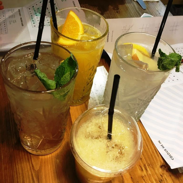 Soft drinks at Georges GBK