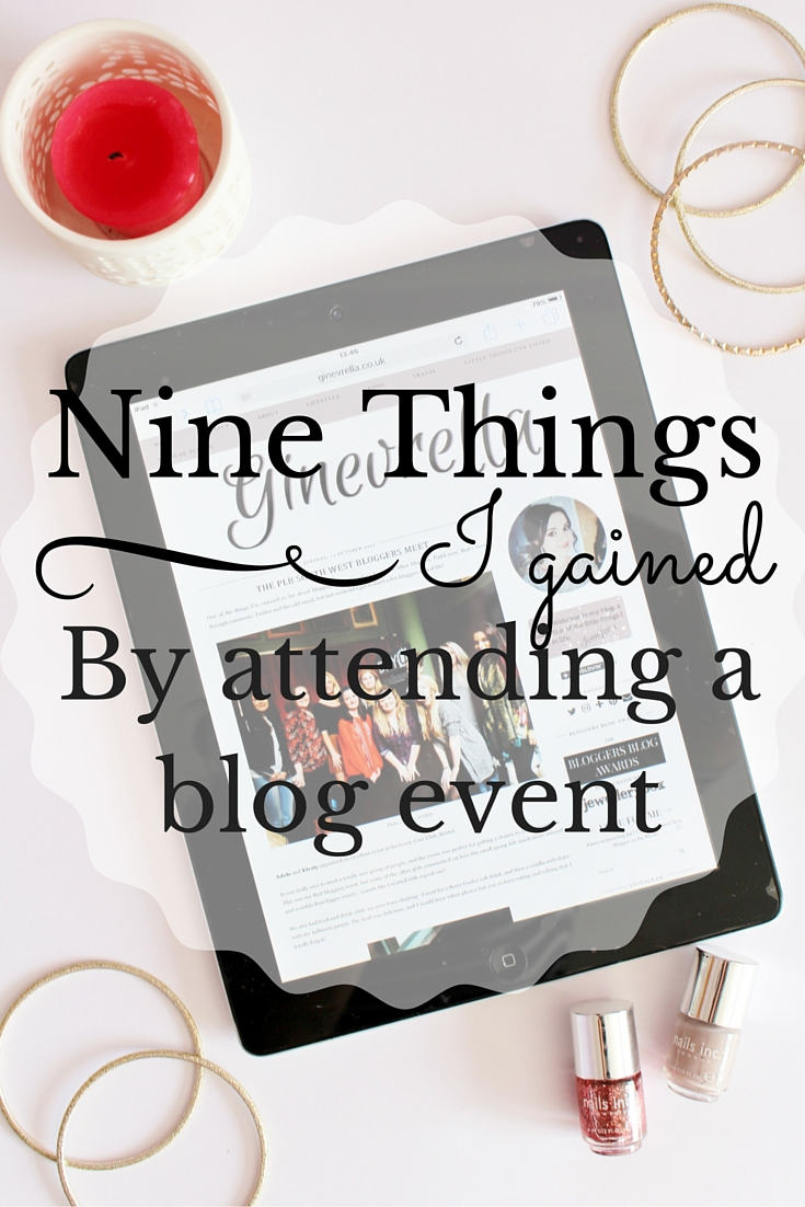 What I gained from attending a blog event, how blog events can benefit your blog
