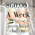 $60.00 A Week Challenge:  October 19, 2015 Weekly Food Cost