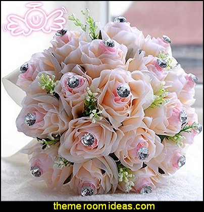 Artificial Flowers Silk Rose Bridal Wedding Bouquet