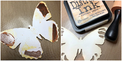Tim Holtz Sizzix Tattered Butterfly Distress Oxide Sprays Alcohol Pearls Tutorial by Sara Emily Barker https://frillyandfunkie.blogspot.com/2019/03/saturday-showcase-tim-holtz-tattered.html 4