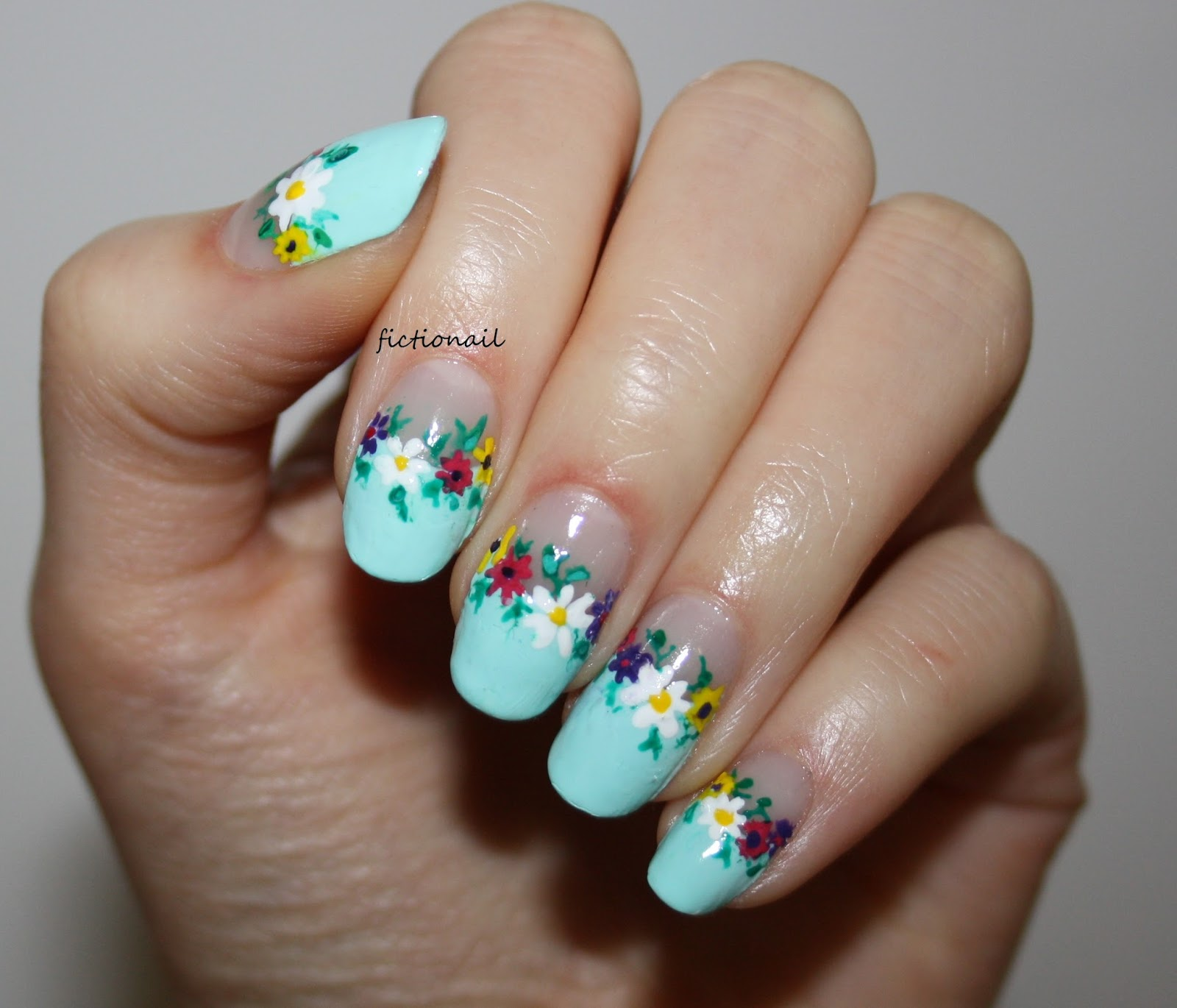 Floral Negative Space Nails