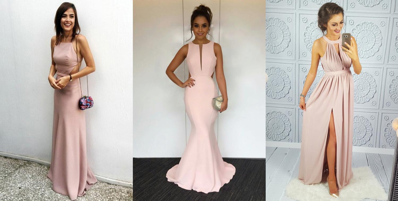 blushing pink nude homecoming dance dress vestido para dança fashion blogger