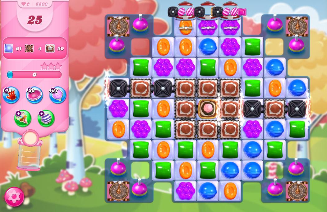 Candy Crush Saga level 5832