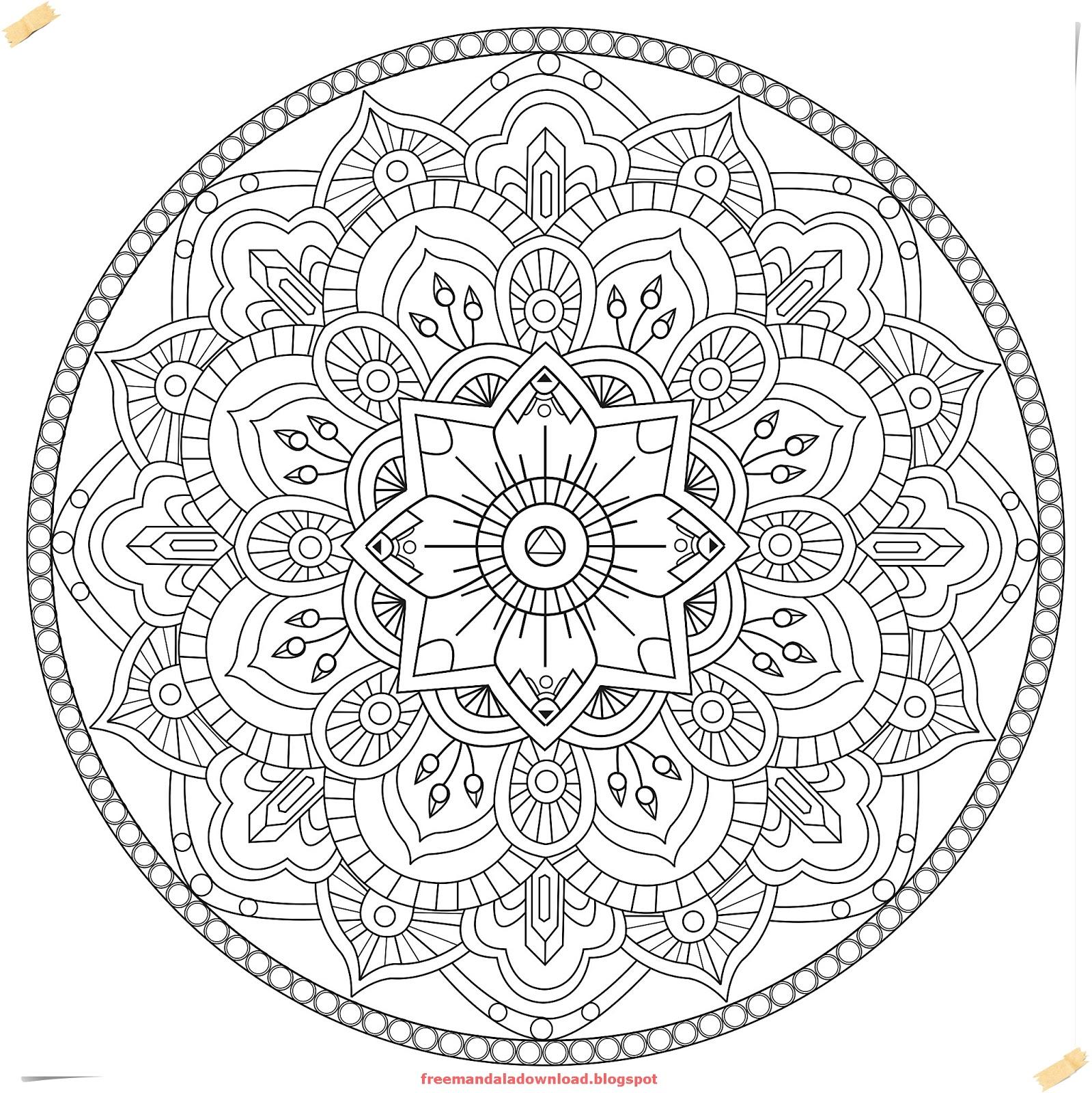 Schwierige Mandalas Für Erwachsene/Difficult Mandalas - Free Mandala