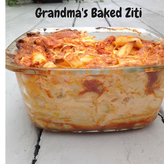Country Fair Blog Party Blue Ribbon Winner: Gluten Free A-Z's Grandma's Baked Ziti