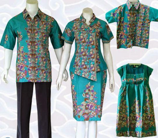 10 Model Baju Batik Keluarga Modern Terbaru 2020