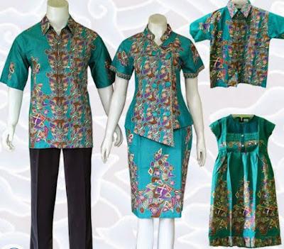 model baju batik keluarga untuk pesta