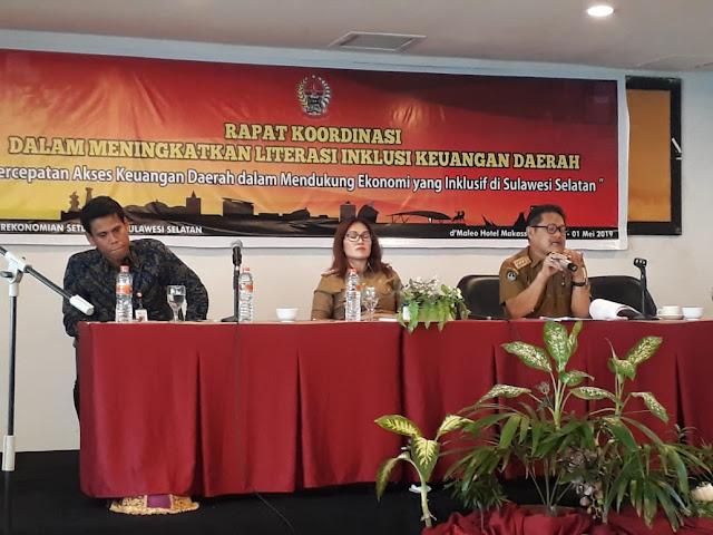 Di Rakor iterasi dan Inklusi Keuangan Daerah, Sekda Sinjai Paparkan Program TPAKD