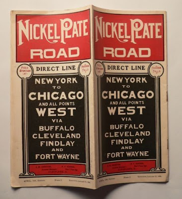 Climbing My Family Tree: Nickel Plate Railroad Schedule Cover