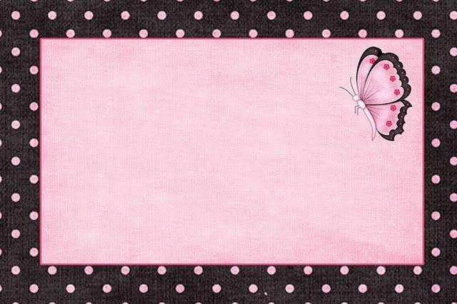 Para hacer Invitaciones, Tarjetas, Marcos de Fotos o Etiquetas, para Imprimir Gratis de Color Rosa.