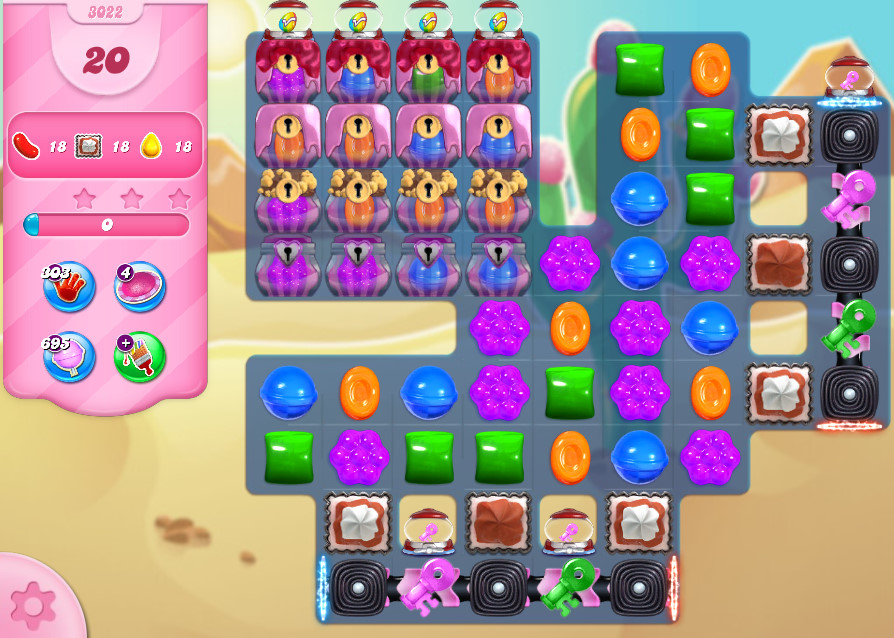 Candy Crush Saga level 3022