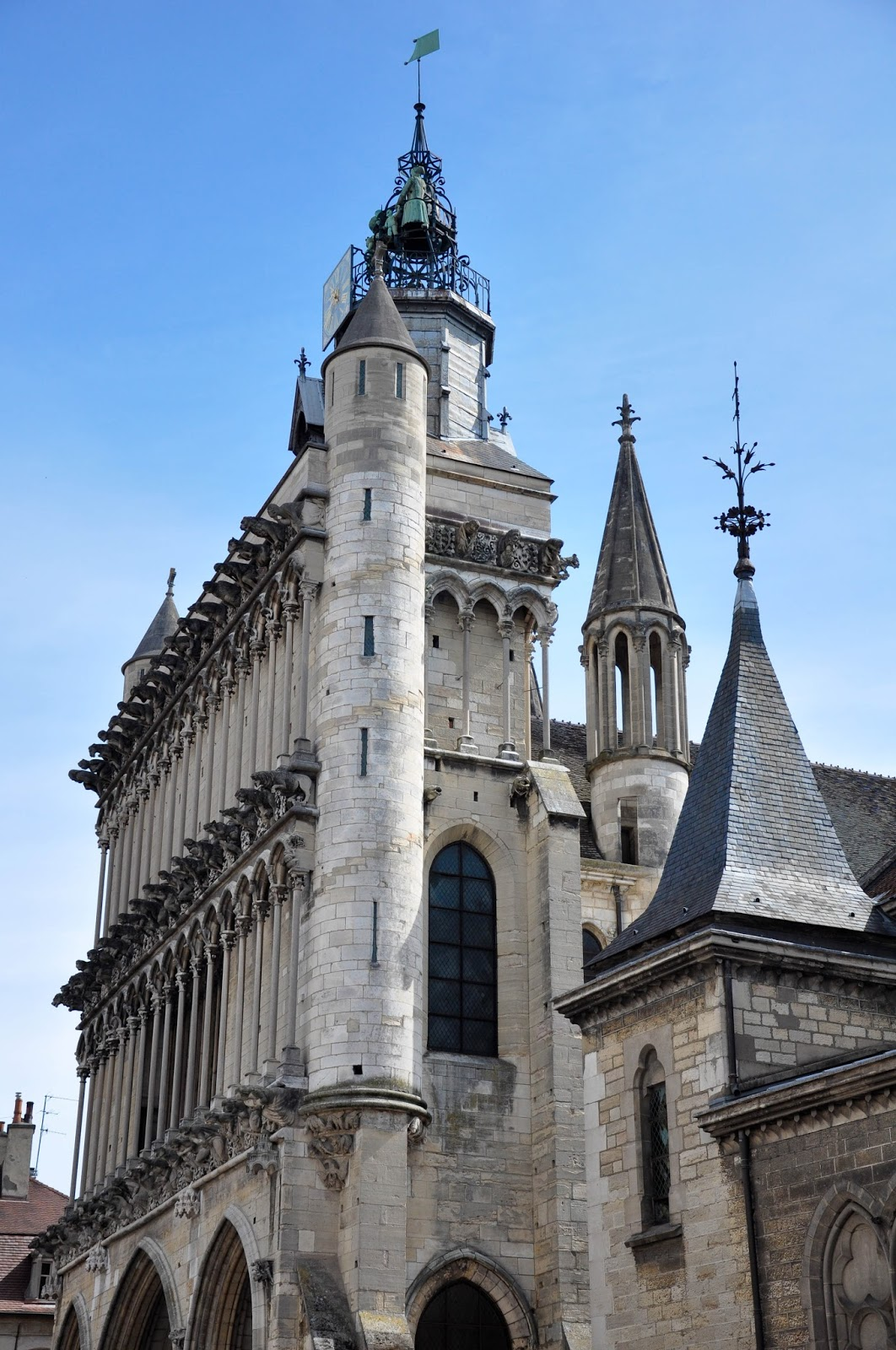 The facade of the Church of Notre-Dame in Dijon, Burgundy, France