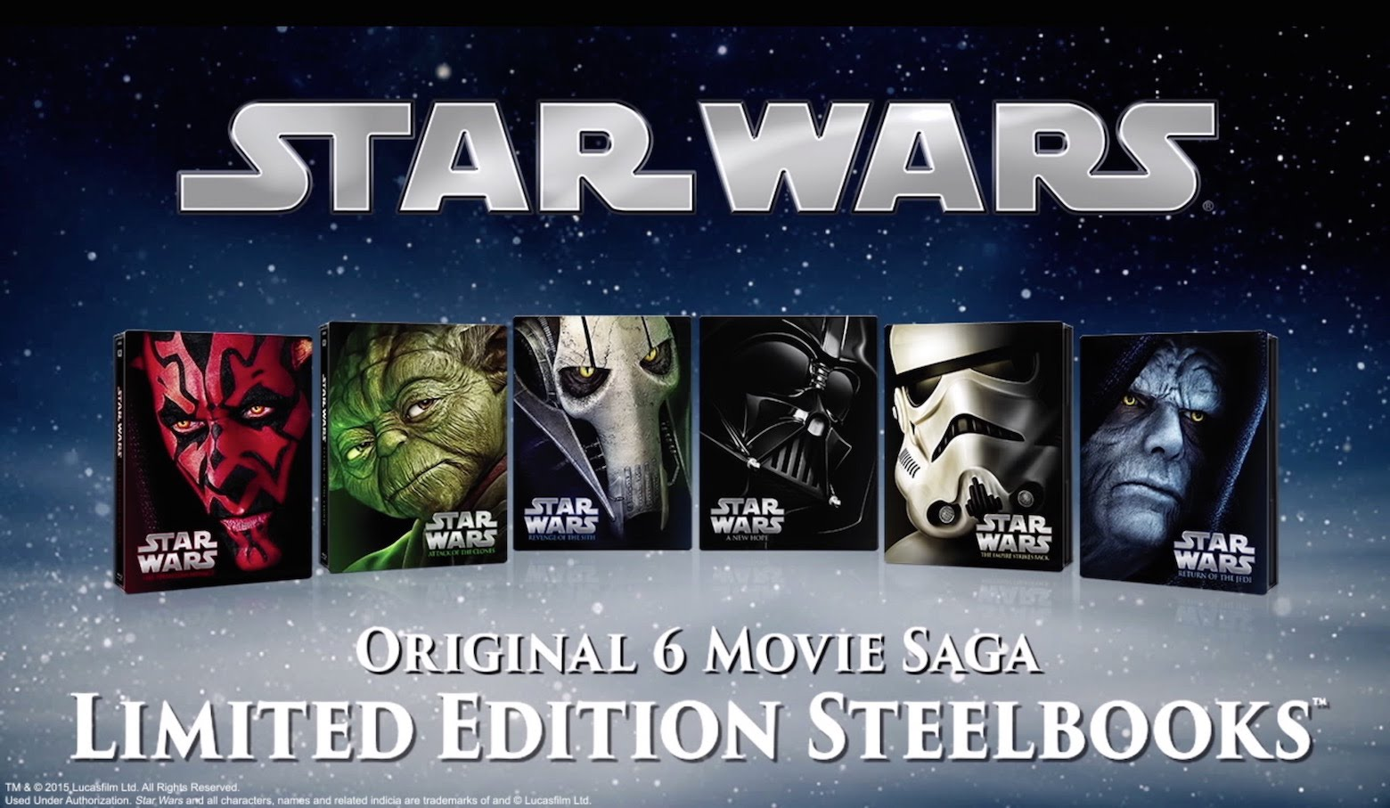 Stars wars blu ray collection - The second city theater