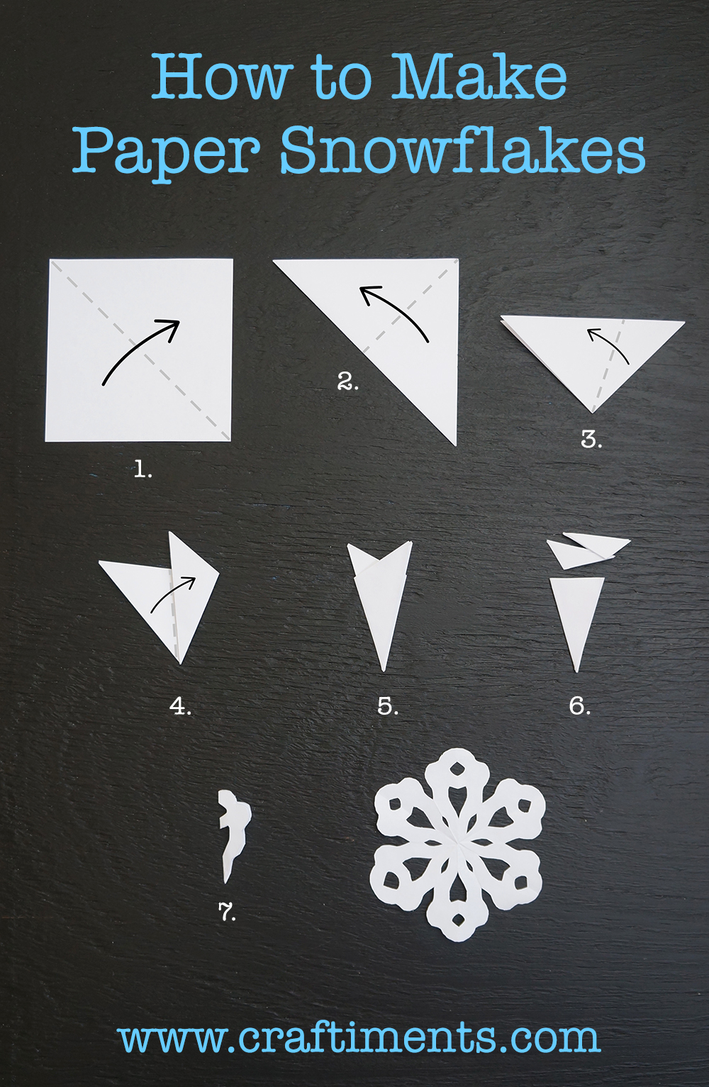 Craftiments: Six Sided Paper Snowflake Tutorial