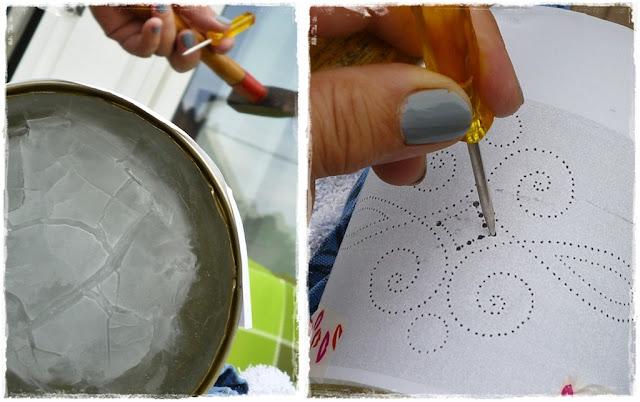 Bildfolge Herstellung Dosenlaterne aus Konservendose