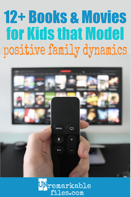 One of the best things parents can do to encourage good family relationships and sibling love is to look carefully at their media: many kids' books and family movies actually normalize sibling rivalry, fighting, and attitude with mom and dad. This list helps parents find movies and books that promote family togetherness and being friends with your siblings, plus more tips for building a sibling relationship! #siblings #family #familyrelationships #parentingtips #siblinglove #brotherandsister #familymovies #childrensbooks #mediaguide #unremarkablefiles
