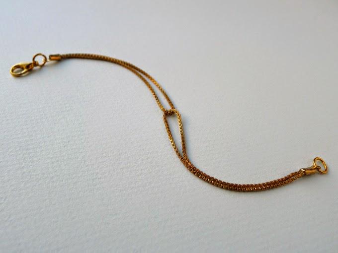 Thanks, I Made It : DIY Delicate Infinity Bracelet