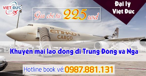 Vé khuyến mãi xuất khẩu lao động đi Trung Đông và Nga Etihad Airways
