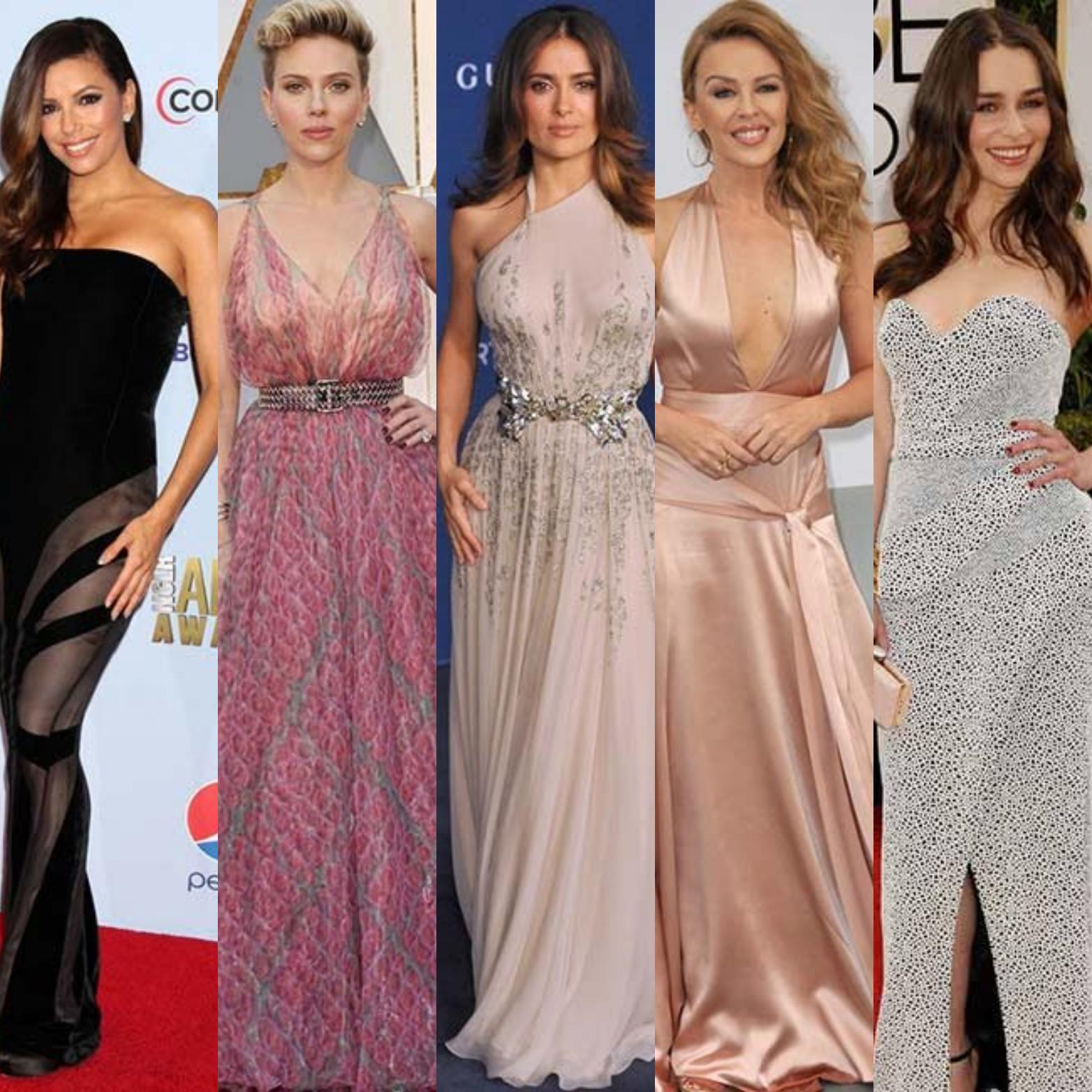 Four famously petite women Eva Longoria, Scarlett Johansson, Kylie Minogue and Emilia Clarke