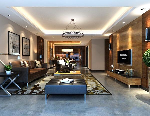 Post modern living room decoration model free 3dmax models