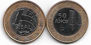 1 Real - 50 Anos do Banco Central do Brasil