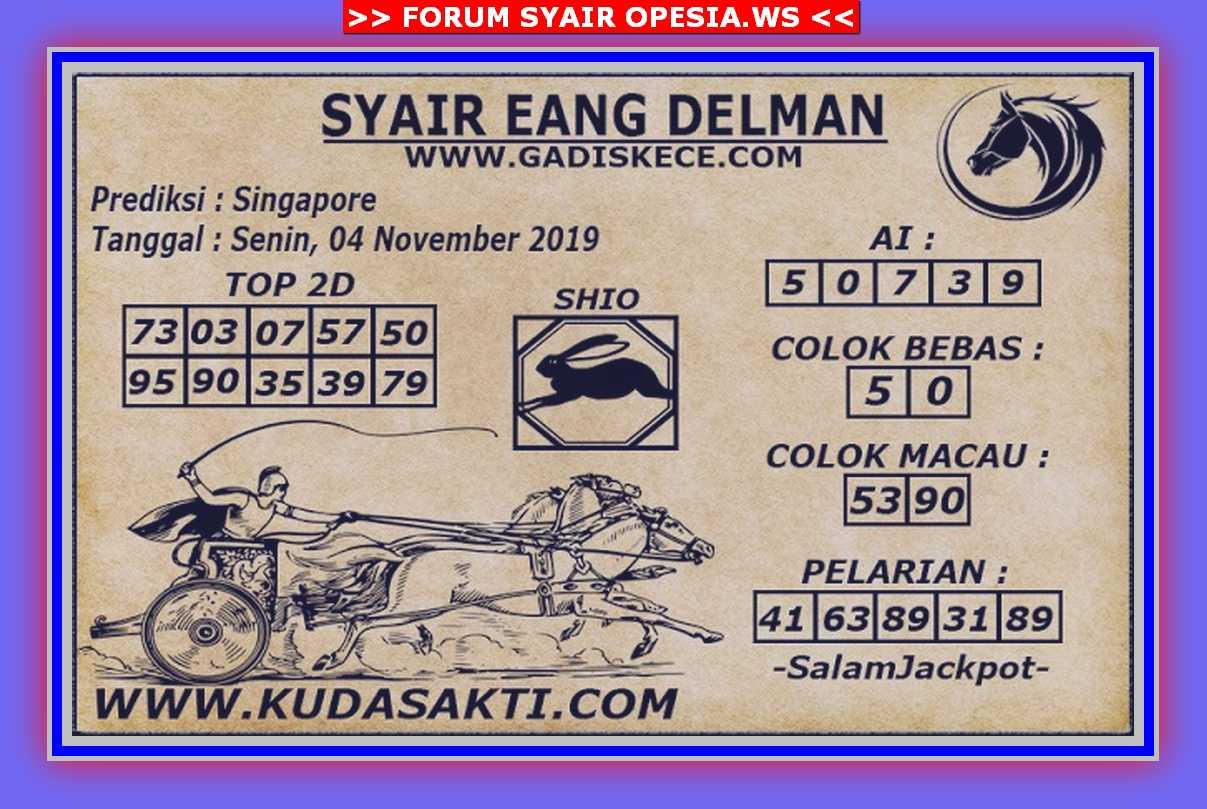 Kode syair Singapore Senin 4 November 2019 66