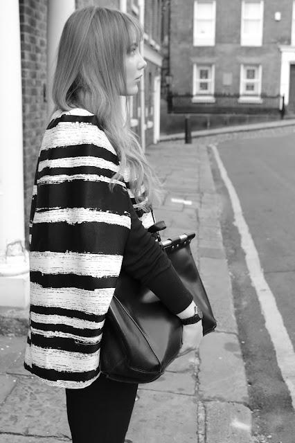 lavish alice distorted stripe blazer side view
