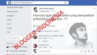 faktor page one google ala blogger indonesia