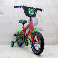 12 lazaro sepeda anak bmx Red/Green